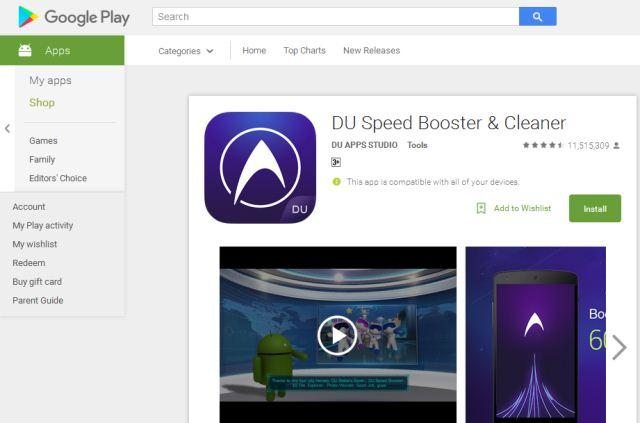 aplikasi cleaner android gratis DU Speed Booster