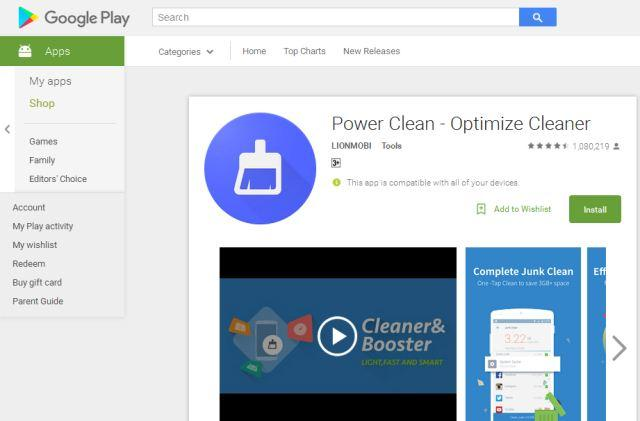 aplikasi cleaner android gratis power clean