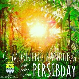 dp bbm good morning persib day