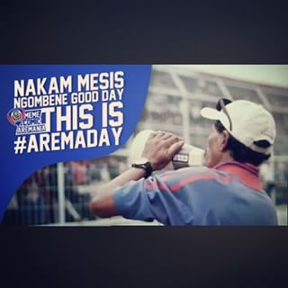gambar dp today is aremaday