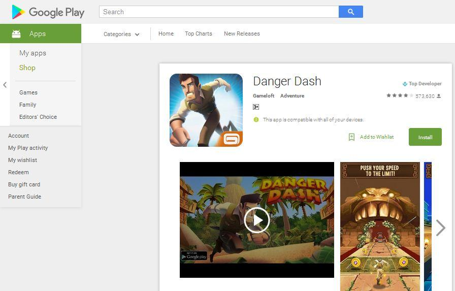 game adventure android danger dash