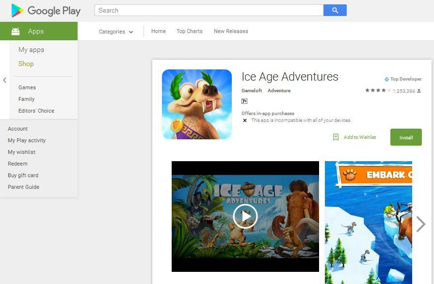 game adventure android ice age adventure