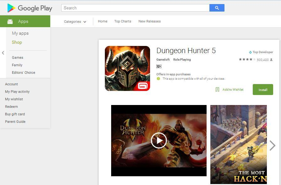game petualangan android dungeon hunter