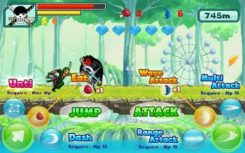 game android one piece - zoro pirates shooting free