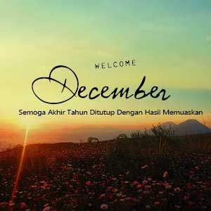 Tulisan Welcome Desember 9