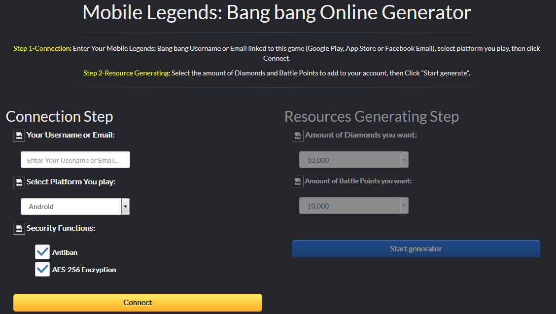 Cara Cheat Mobile Legends Unlimited Diamonds Android/iOS dengan Tool Generator Online