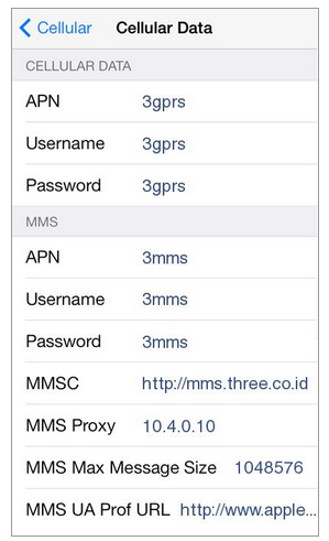 Cara Setting APN 3 4G Internet MMS di HP iPhone (6S, 6, 5S, iPad)