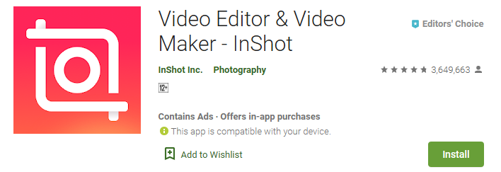 aplikasi video bokeh - inshot